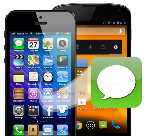 Chuyển sms từ iphone sang android