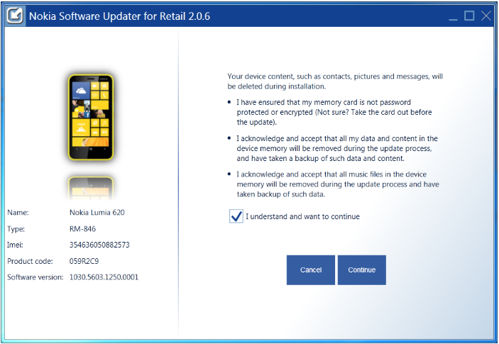 Hướng dẫn flash rom cho lumia bằng nokia software updater for retail