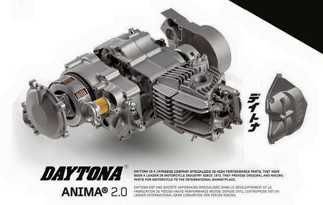 Cận cảnh bộ máy daytona anima 190cc cho wave dream - 1