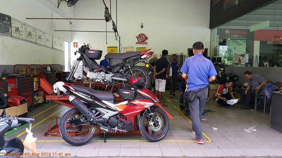 Cận cảnh chiếc exciter 150 bị tai nạn