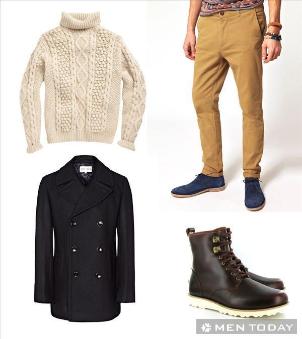 Pea coat và 4 cách phối đồ nam mùa đông 2013 - 3