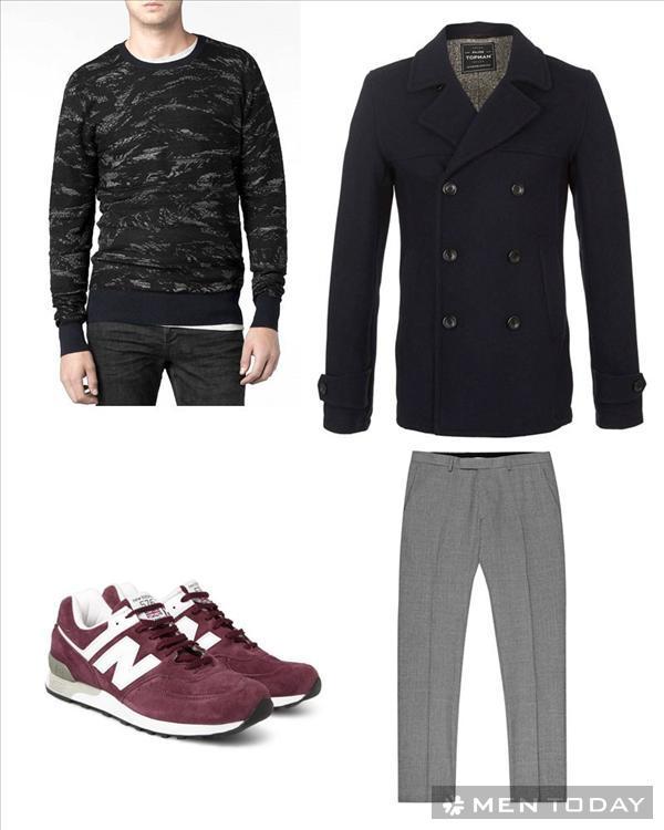 Pea coat và 4 cách phối đồ nam mùa đông 2013 - 4