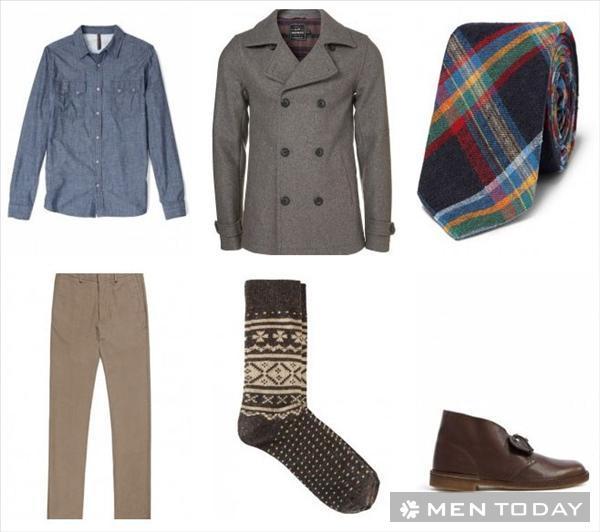 Pea coat và 4 cách phối đồ nam mùa đông 2013 - 6