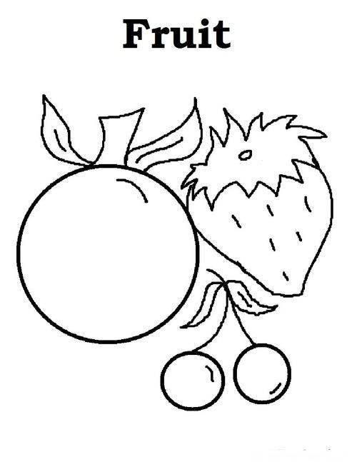 Tranh tô màu trái cây - 1