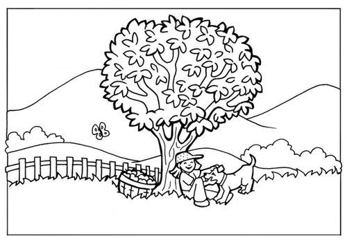 Tranh tô màu vườn đồi - 1