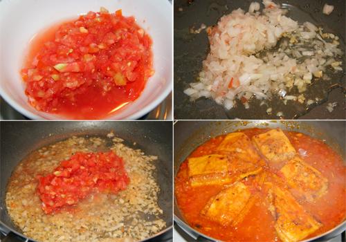 Đậm đà đậu hũ dồn thịt sốt cà