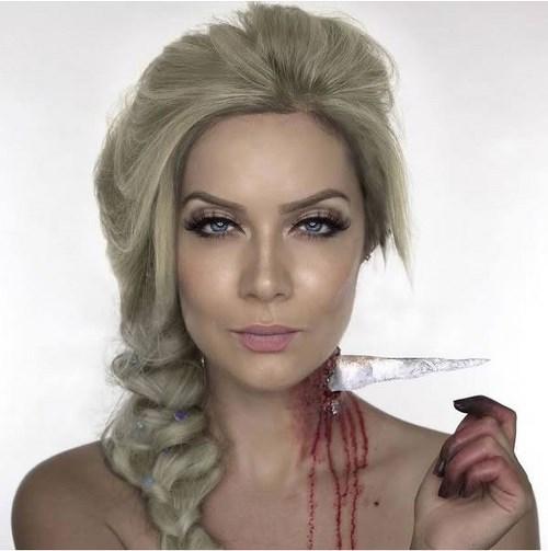 Hình ảnh máu me của các nàng công chúa disney dịp halloween - 3