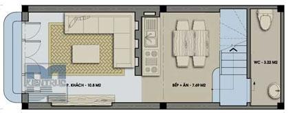 Nhà 30 m2 xây 3 tầng - 1