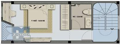 Nhà 30 m2 xây 3 tầng - 2