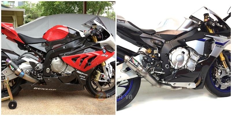 clip so sánh tiếng pô austin racing gp2r trên bmw s1000rr và yamaha r1 - 1