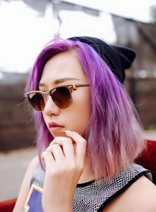 Đầu mùa sao việt mê mệt tóc màu tím - 6