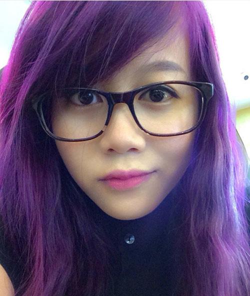 Đầu mùa sao việt mê mệt tóc màu tím - 13