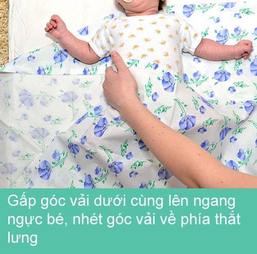 Mẹ khéo quấn tã bé yêu ngủ ngon - 4