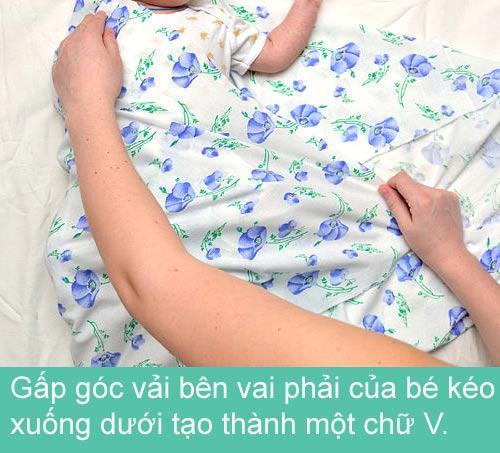Mẹ khéo quấn tã bé yêu ngủ ngon - 6