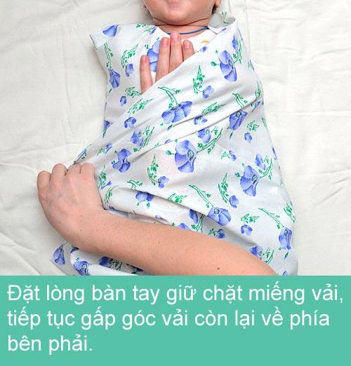 Mẹ khéo quấn tã bé yêu ngủ ngon - 7