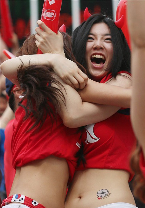 Ngất ngây vẻ đẹp của fan nữ hàn quốc tại world cup - 1
