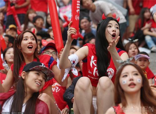 Ngất ngây vẻ đẹp của fan nữ hàn quốc tại world cup - 6
