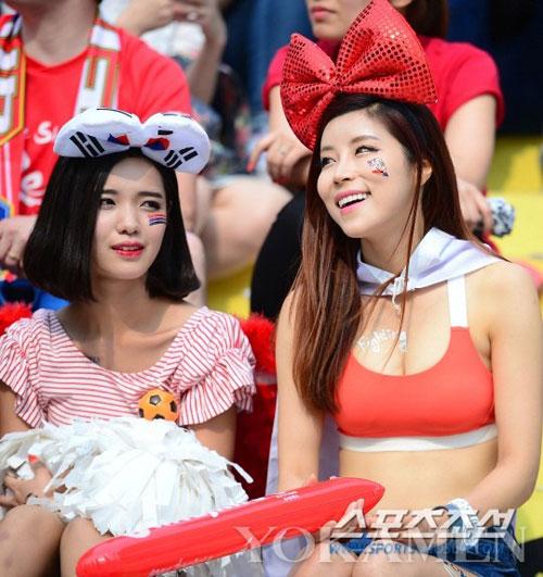 Ngất ngây vẻ đẹp của fan nữ hàn quốc tại world cup - 12