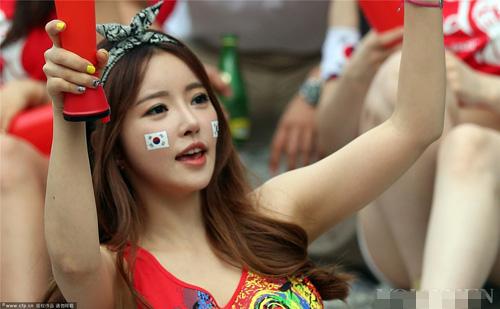 Ngất ngây vẻ đẹp của fan nữ hàn quốc tại world cup - 14