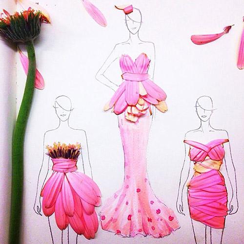 Ngẫu hứng xé cánh hoa làm váy - 2