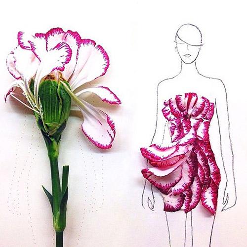Ngẫu hứng xé cánh hoa làm váy - 6