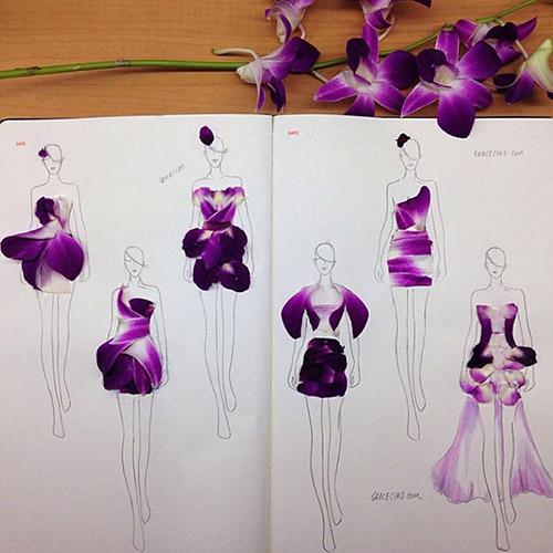 Ngẫu hứng xé cánh hoa làm váy - 11