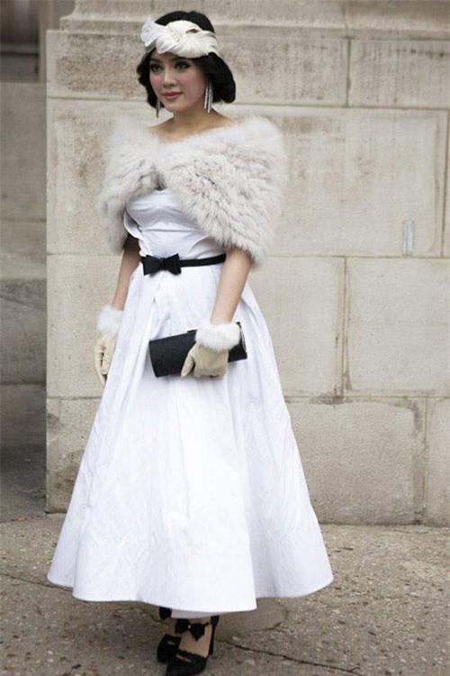 Người đẹp việt bỗng lùn tịt vì mốt váy phồng - 3