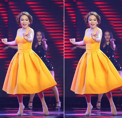 Người đẹp việt bỗng lùn tịt vì mốt váy phồng - 11