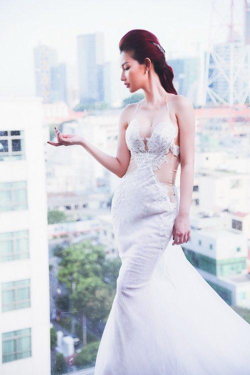 Quỳnh chi làm cô dâu gợi cảm khôn xiết sau ly hôn - 7