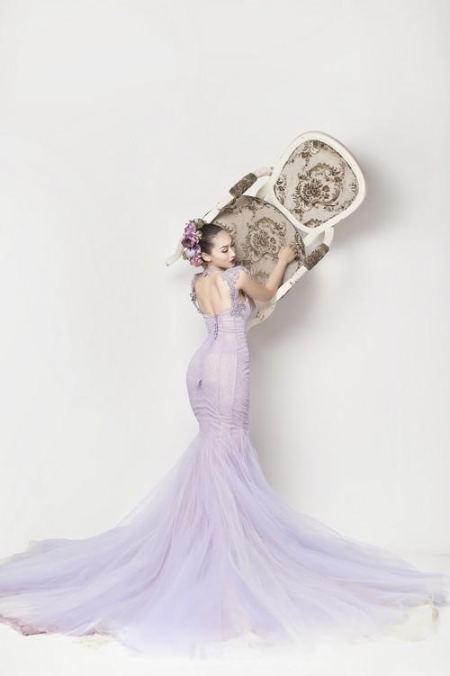 Siêu mẫu khánh ngọc diện áo cưới kiêu sa - 1