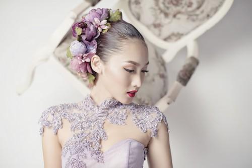 Siêu mẫu khánh ngọc diện áo cưới kiêu sa - 2