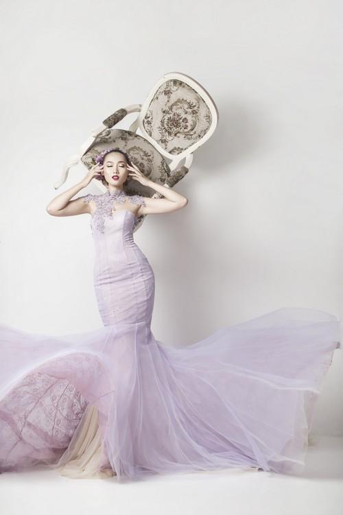 Siêu mẫu khánh ngọc diện áo cưới kiêu sa - 3