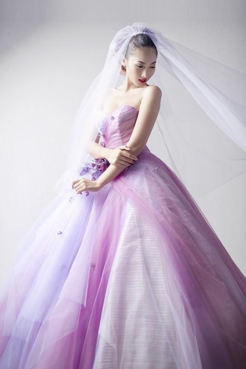 Siêu mẫu khánh ngọc diện áo cưới kiêu sa - 13