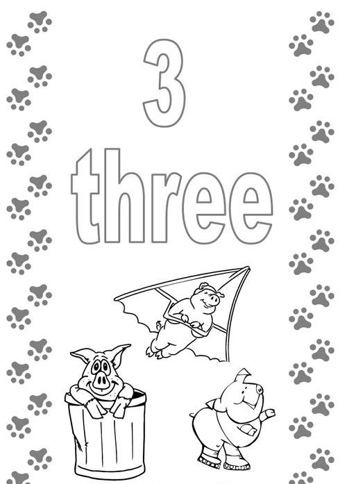 Tranh tô màu cho bé học đếm số - 3