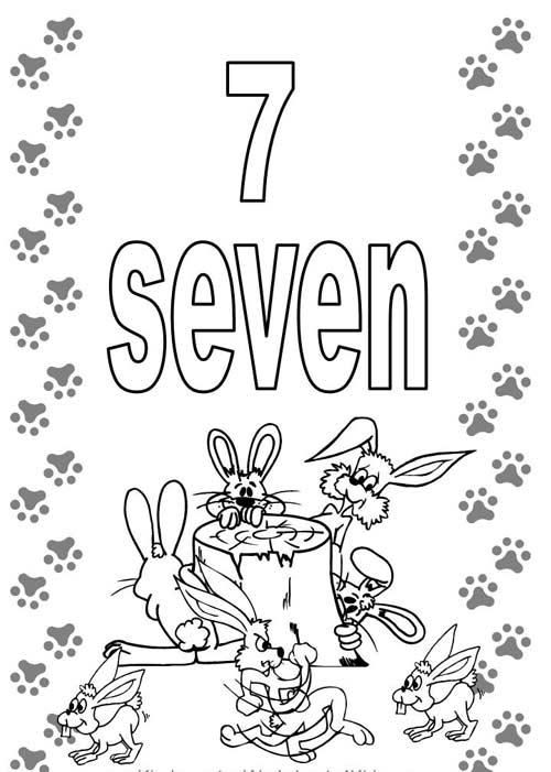 Tranh tô màu cho bé học đếm số - 7