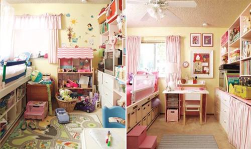 7 phòng ngủ trước và sau khi cải tạo
