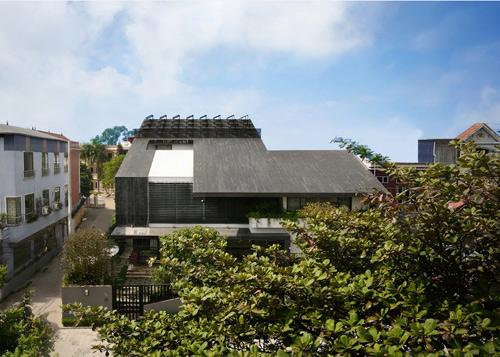 Biệt thự hà nội sừng sững cây xanh giữa nhà - 4