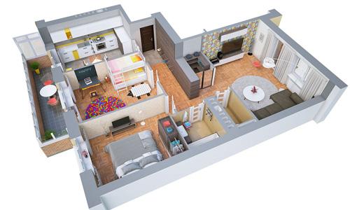 Các mẫu căn hộ nhỏ có 2 phòng ngủ - 2