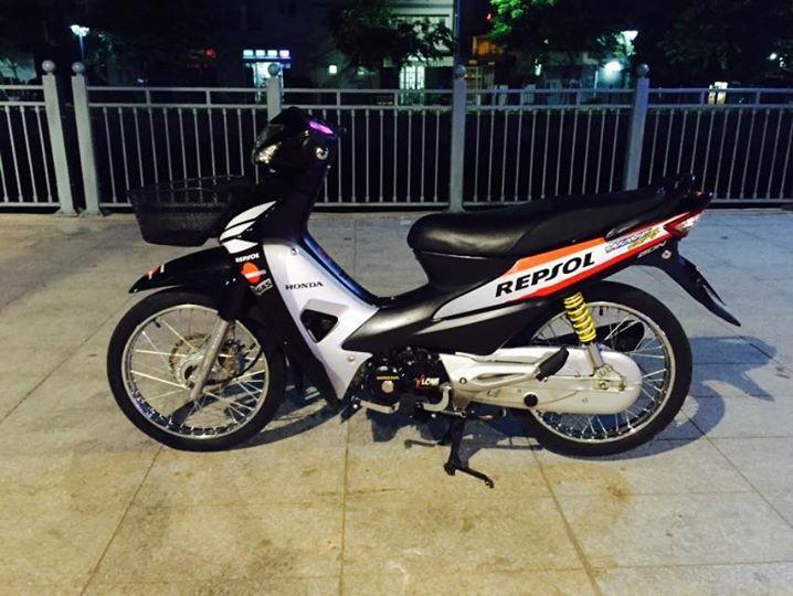Honda wave a 100cc độ phong cách repsol - 1