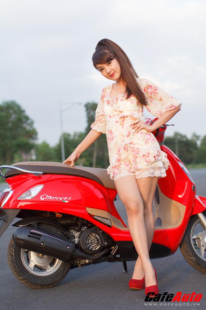Kymco many fi so dáng cùng hotgirl linh napie - 9