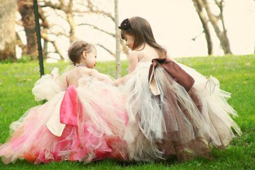 Làm váy công chúa cho con gái chỉ bằng màn tuyn - 11