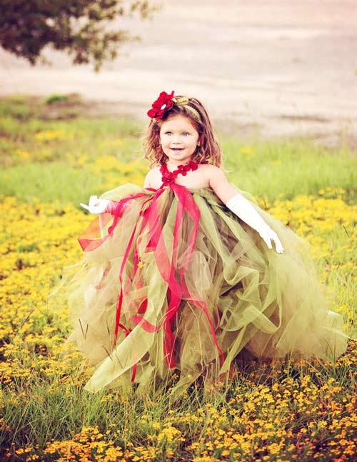 Làm váy công chúa cho con gái chỉ bằng màn tuyn - 15