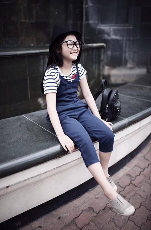 ngất ngây bé gái hà nội 8 tuổi xinh như hotgirl đàn chị - 7