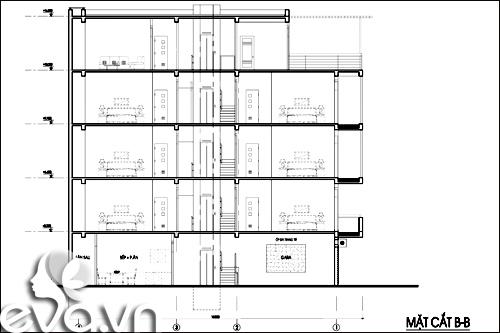 Thiết kế nhà ở kết hợp cho thuê trên đất 72m2 - 1