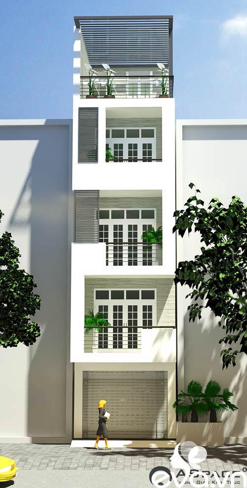 Thiết kế nhà ở kết hợp cho thuê trên đất 72m2 - 8
