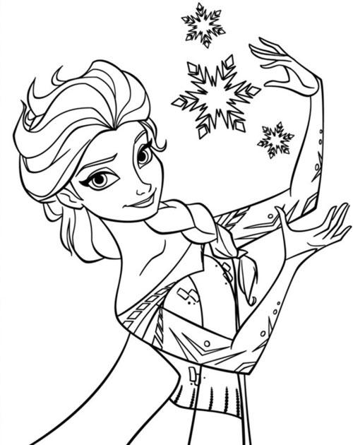 Tranh tô màu công chúa phim frozen cho bé gái mê mẩn - 1