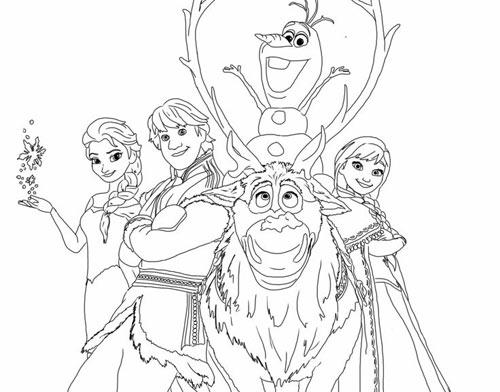 Tranh tô màu công chúa phim frozen cho bé gái mê mẩn - 4