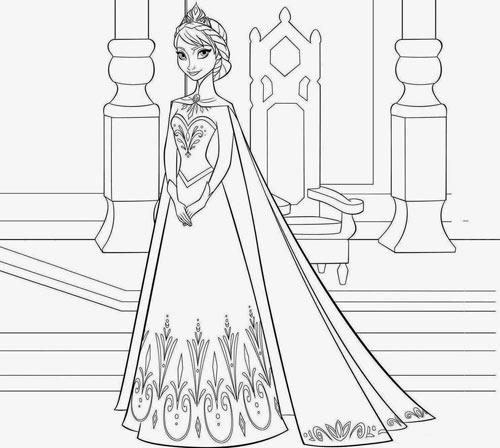 Tranh tô màu công chúa phim frozen cho bé gái mê mẩn - 5