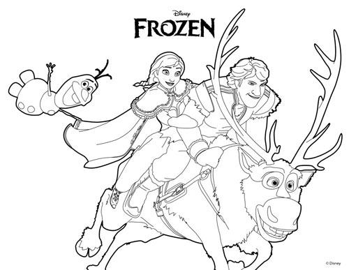 Tranh tô màu công chúa phim frozen cho bé gái mê mẩn - 9
