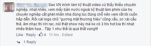 Vừa lên sóng the face vietnam bị chê xem quá buồn ngủ - 3
